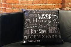 Eau Claire Streets & Landmarks Pillow