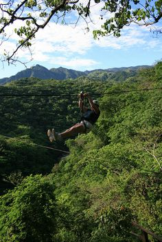Enjoy the view as you fly through the jungle on this Zip-Line El Eden Tour.