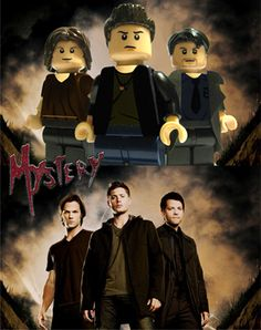 Sam, Dean & Cas- OMG THEY MADE THEM INTO LEGOS!!!!!!!!!!! I can die happy now...