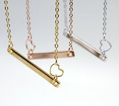 <3 <3 Handmade Jewelry A Heart Your Name Bar Necklace - 16K Gold Silver Rose Gold -PlatedDainty Handstamped name Personalized Initial Charms Necklace Bridesmaid Gift