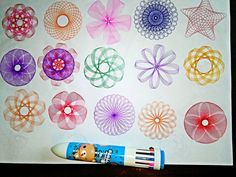 Draw amazing spirograph art. Each of your drawings is unique, colorful, and beautiful artwork.