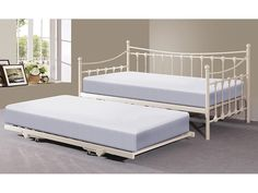 6cc26818a85b Memphis 3ft Single Day Bed with Trundle - Ivory or Black (Ivory): Amazon