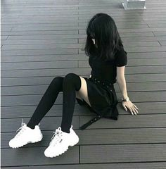 At Fashion Outfit - Home Emo Outfits, Korean Outfits, Cute Casual Outfits, Grunge Outfits, Girl Outfits, Batman Outfits, Rock Outfits, Gothic Outfits, Egirl Fashion