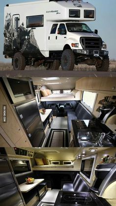 "Off Road Camping ""EarthRoamer"" Xpedition Vehicle. Truck Camper, Kombi Motorhome, Off Road Camper, Camper Trailers, Campervan, Off Road Rv, Truck Bed, Big Trucks, Ford Trucks"