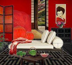 Rosso!  Collage virtuale di Mirella Parer