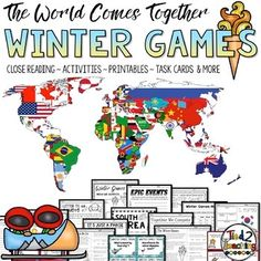 The Winter Games are almost here! Use these Winter Games close reading passages, writing activities, graphic organizers, task cards, STEM, Winter Games math and literacy printables, and other fun resources to build excitement with your students as the world unites for