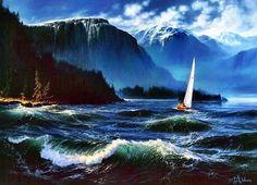 Alluring ocean elements. Artist Loren Adams. | The original work of talented and enthusiastic people