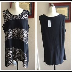 New Women's Animal Print Top by Notations Woman 2X See pics, Machine washable, 96% polyester 4% spandex. Notations Tops