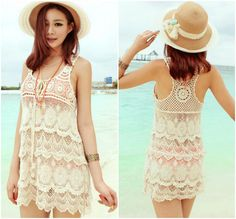 2be6b44435b Elegant Lace Swimsuit Beach Cover Up