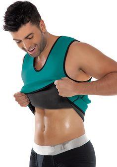 8c88cbd3bb329 Men Zipper Neoprene Slimming Shapewear Vest Waist Cincher double wear 5xl  size Workout Shirts