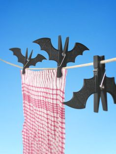 Spooky Bat Pegs.   http://www.suck.uk.com/products/spooky-bat-pegs/#