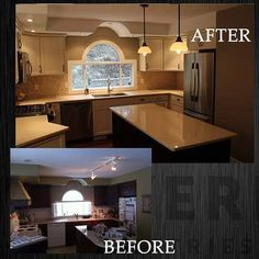 What a difference a reno makes! New kitchen for a house renovation in Dilworth area! #kitchendesign #kitchen #interiordesignideas #renotime #homemakeover #realtor #remodeling #okanaganlife #okanagandesigners #interiordesign #interiordesignideas #kelownacontractor #contractorkelowna #renovation