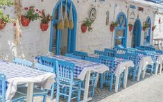 The outside area of the taverna is in keeping with the traditional blue and white colours of Greece. We are proud to make our customers feel welcome with a friendly and cosy design.