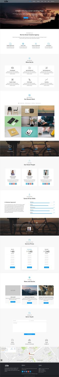 Lila is a One Page #Parallax Responsive #WordPress theme suitable for any #creative business agency website download now➩ https://themeforest.net/item/lila-one-page-parallax-wordpress-theme/19009692?ref=Datasata