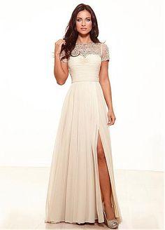 Elegant Tulle & Chiffon A-line Bateau Neckline Full-length Mother of the Bride Dress