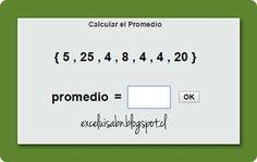 ExceLuisABN Matemática y Excel: Calcula el Promedio, con ThatQuiz.