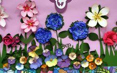 Memory Bound BLOG: Easter Bulletin Board in Full Bloom! - a beautiful work of art!