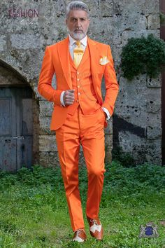 Hochzeitsanzug 2210 Kollektion Fashion Color Ottavio Nuccio Gala The Effective Pictures We Offer You About Blazer Outfit oficina A quality picture can Mens Fashion Suits, Mens Suits, Tan Blazer Outfits, Terno Casual, Orange Suit, Herren Style, Designer Suits For Men, Men Formal, Fashion Colours