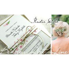 Rustykalne zaproszenia ślubne - Rustic Style