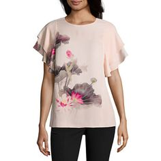c0d0fdada762c Buy Worthington Flutter Sleeve Georgette Blouse at JCPenney.com today and  enjoy great savings.