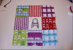 embroidered quilt block