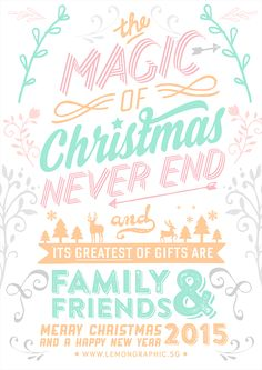 Christmas card typography 2015 on Behance
