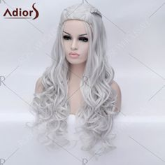 Adiors Braided Long Fluffy Wavy Party Synthetic Wig