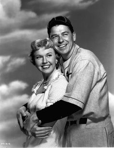 Doris Day American actress, and Ronald Reagan, when he was an actor, before he become President of the U.S.