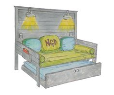 Counting down the days till this daybed is available for purchase - Nancy Gent Designs