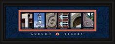 Auburn Tigers Letter Art Print - Tigers