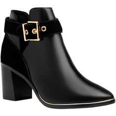 Ted Baker Nissie Block Heel Ankle Boots , Black ($210) ❤ liked on Polyvore…