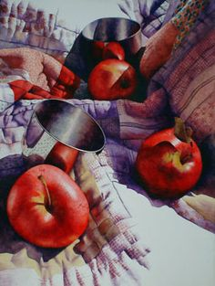 Chris Krupinski | WATERCOLOR | Apples and Jefferson Cups