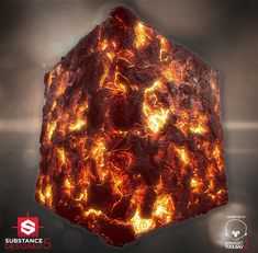 Magma Material - Substance Designer, Álvaro Carreras on ArtStation at https://www.artstation.com/artwork/lNeKk