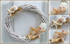 Seaside Wreath - Beach Cottage Decor by A2SeaCreations on Etsy