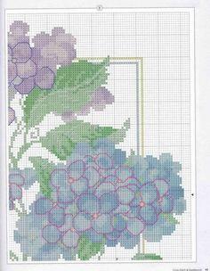 Hydrangea pillow chart2