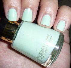 Revlon Nail Polish $6 love the mint green color trend