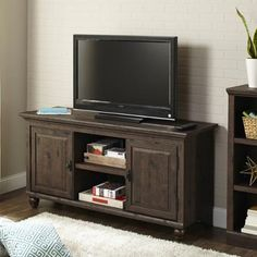 Better Homes and Gardens Crossmill Heritage Walnut Finish TV Stand for TVs up to 65""