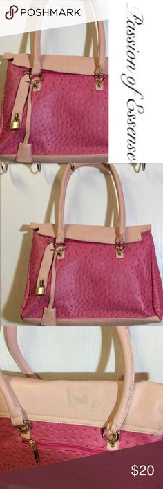 ♨️CLEARANCE SALE ♨️ Pink Fashion Handbag Brand new handbag with top zipper outside zipper, fasten button on the top and side has a little stain on the top. With attachable lock and key. Has a small stain on the top of the bag. ♨️MAKE ME AN OFFER**♨️ Bags Shoulder Bags