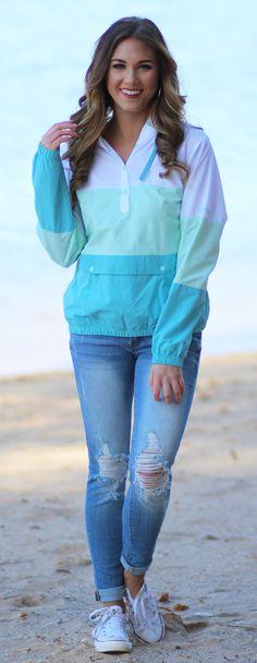 Harborside™ Windbreaker Jacket in Blueglass | Lakeside Cotton