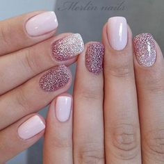 Glitter Gel Nail Designs für kurze Nägel für den Frühling 2019 - New Site Ongles en gel pailleté pour ongles courts pour le printemps 2019 - - Short Nail Designs, Nail Designs Spring, Gel Nail Designs, Nail Designs With Glitter, Spring Design, Cute Nails, My Nails, Short Gel Nails, Long Nails