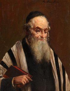 "Lazar Krestin (1868-1938, Lithuanian/Israeli) ""Rabbi"""