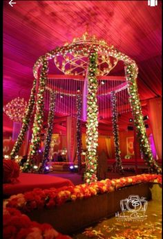 Weddings are a celebratory occasion which brings together two families. Confused whether to decorate your wedding mandap using florals or lights? We have curated a list with some awe-inspiring Wedding Mandap decor inspirations we know you'll love. Wedding Mandap, Wedding Stage, Wedding Dj, Trendy Wedding, Wedding Events, Wedding Entrance, Party Events, Wedding Parties, Wedding Rehearsal