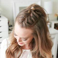 Braided Ponytail Hairstyles, Easy Hairstyles For Long Hair, Box Braids Hairstyles, Braids For Long Hair, Summer Braids, Mohawk Braid, Braided Updo, 5 Braid, Hairstyles Videos