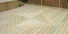 Striking Square Or Diamond Pattern In The Decking Boards Another