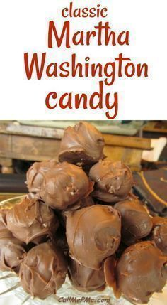 Martha Washington Candy is a classic candy made with chocolate, coconut, and pecans. I simplify the recipe without losing any of that classic taste! Martha Washington Candy ~ My Childhood Christmas Memories Köstliche Desserts, Delicious Desserts, Dessert Recipes, Plated Desserts, Healthy Desserts, Holiday Baking, Christmas Baking, Martha Washington Candy, Dessert Halloween