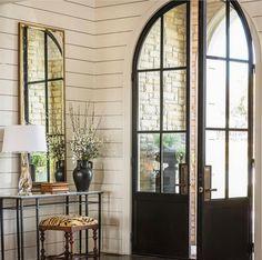 Arched Front Door, Iron Front Door, Arched Doors, Double Front Doors, Front Door Entrance, Exterior Front Doors, Glass Front Door, Iron Doors, Entry Doors