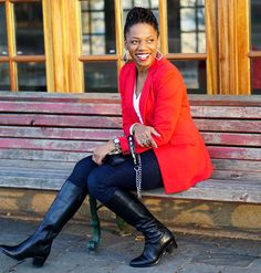 Economy of Style: Blazing Through Winter in a Thrifted Red Blazer Found at Savers Red Blazer Outfit, Pants Outfit, Budget Fashion, Affordable Fashion, Thrift, Everyday Fashion, Fall Outfits, Style Me, Blazers