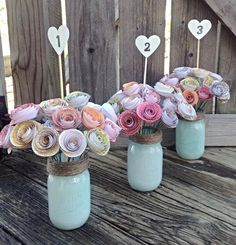 Rustic Wedding Centerpieces Small to lovely centerpiece examples for more than a fabulous rustic wedding centerpieces mason jars center pieces Wedding idea number 7110944369 pinned on 20190424 Paper Flower Centerpieces, Rustic Wedding Centerpieces, Wedding Table Numbers, Rustic Weddings, Centrepieces, Wedding Rustic, Centerpiece Ideas, Quinceanera Centerpieces, White Weddings