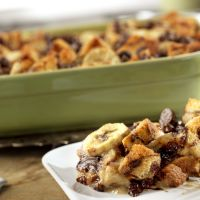 Banana Bread Pudding.  My friend made this TWICE over the holidays and says it was GREAT!