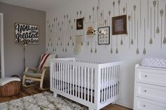Eclectic Nursery with Arrow Stencil Accent Wall- Project Nursery